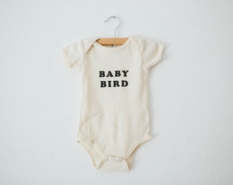 Baby Bird, Infant's organic bodysuit, by The Bee & The Fox