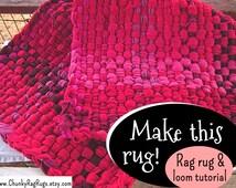 Rug making; How to make a rag rug; Weaving rag rugs; diy rugs; Make your own rug; Rag rug tutorial; Rag rugs instructions;how to make a loom