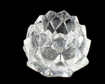 Orrefors Crystal Firefly Nimbus * Artichoke Votive Candle Holder