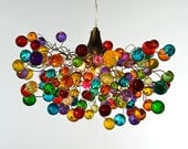 Multicolored bubbles Chandeliers, hanging lamp with different size of bubbles for children room or dining room.