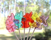 Unicorn Birthday, Unicorn Baby Shower, Enchanted Forest Party, Magical Unicorn, RAINBOW Colors, UNICORN Lollipops - Ready to Ship