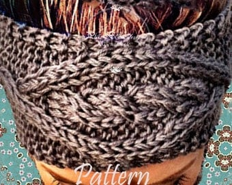 PATTERN for Cable knitted Headband,Cable knit ear warmer,Knitted headband,Handmade earwarmer,knit headwrap