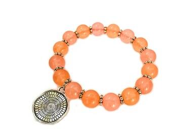 Quartz bracelet, gemstone bracelet