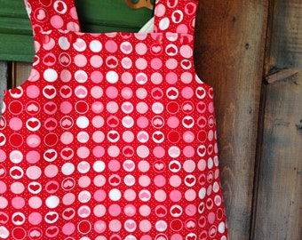 reversible smock dress baby girl toddler pinafore