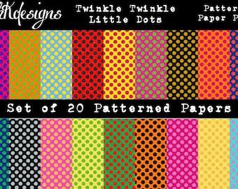 Twinkle Twinkle Little Dots Digital Paper Pack