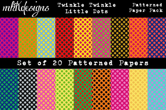 Twinkle Twinkle Little Dots Digital Paper Pack
