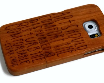 "wooden Samsung Galaxy S7 case - real wood S7 case walnut, cherry or bamboo -  ""Art Should"""