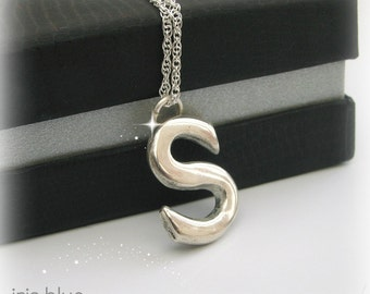 Initial Necklace Sterling Silver, Alphabet, Letters Jewellery, Christmas Gift Idea, His or Hers, Personalised Jewellery