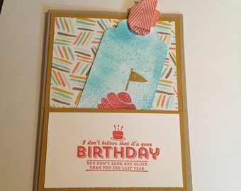 Birthday card with bookmark