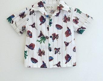 Sale!!!!   Boys Cactus Collared Shirt/Western/Native/Hipster/Stylish/Desert