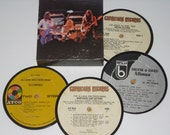 The ALLMAN BROTHERS Band Vinyl Record Coaster Set, record coasters for drinks