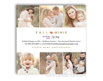 Fall Mini Session Marketing Board - Digital Marketing Template for Photographers - FALL MODERN MINIS 4 - 1565