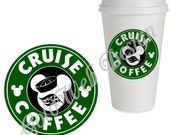 Disney Cruise Reusable Coffee Cup, Mug Inspired