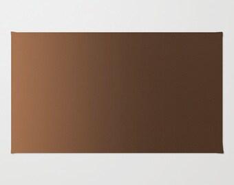 Brown Ombre Floor Rug - Floor Mat - Room Rug - Shades of Brown - Bathroom Decor - Made to Order