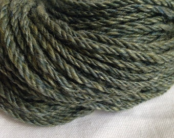 "Merino/Silk ""Vinny's Tempest"" Handspun Yarn Worsted Weight 106 yards 3.8oz 3ply"