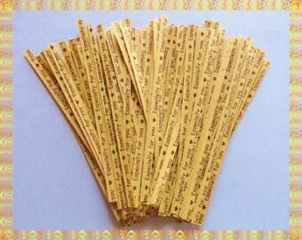 25 Twist Ties ( 4 inch ) .. Twist Ties, Khaki Twist Ties, Paper Twist Ties, Gift Bag Twist Ties, Food Packaging Twist Ties