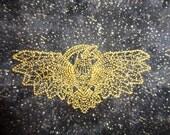 Spirit Raven - Embroidered Drawstring Tarot Bag