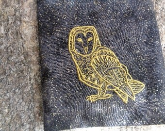 Embroidered Spirit Owl Magical Purpose Tarot, Crystal or Rune Bag