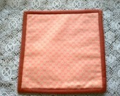Pot Holder  Hand Protector  Pink Vintage Fabric Hot Pad  Food Serving