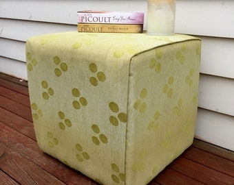 Newly upholstered foot stool / bedside table / side table (contact us for delivery quote)
