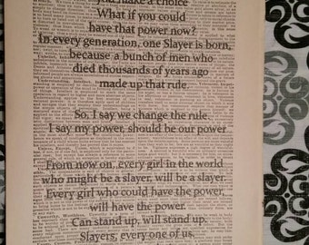 Buffy: Slayer Dictionary Art Quote