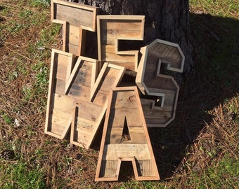 Reclaimed Wood Marquee Letters