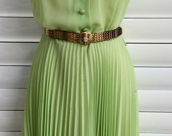 Sunray pleated dress 1970 Vintage