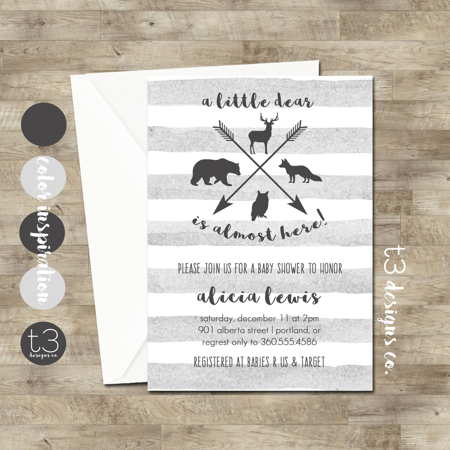 woodland animal baby shower invitation woodland baby shower forest animal baby shower hunting