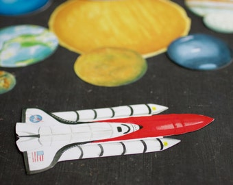 Magnetic Planets *with* Space shuttle, planet toys, planet magnets, outer space learning toy