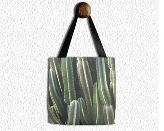Cactus tote bag, Boho grocery sack, teacher tote, gym beach bag, yoga gear, diaper bag, mothers day, gifts, birthday, Mom, Yogi, bohemian