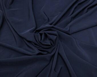 Navy Twill Stretch Woven Fabric- 1 Yard Style 457
