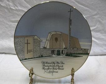1/2 OFF!!! Vintage World Wide Art Studios Saint Peter's By The Sea Presbyterian Church, Rancho Palos Verdes California Memorial Plate,0616S