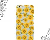 iPhone and Galaxy Soft TPU Phone Case Back Cover Summer sunflowers - UV0328