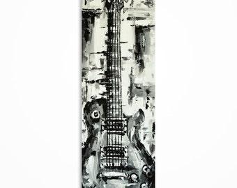 Guitar painting, Guitar wall  art, Music art, Gift for a musician, Guitar art, Original Les Paul guitar art on canvas - MADE TO ORDER