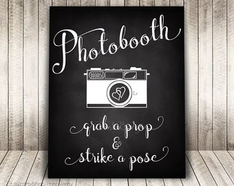 Wedding photobooth sign Wedding chalkboard sign Printable Wedding photo booth sign printable Chalkboard wedding sign