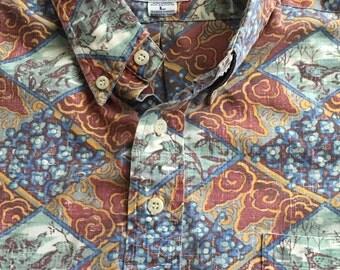 SALE! 1980's reyn spooner Hawaiian shirt Large  - Retro reyn spooner shirt RETRO SPOONER