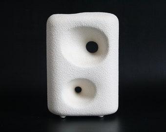 White glazed Bertoncello vase made in Italy