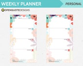 Personal Filofax Personal Planner Inserts, Printable Weekly Planner, Weekly Planner, Printable Filofax Inserts, Weekly Agenda Schedule