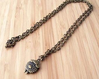 Sheep necklace x 1 - Antiqued bronze or silver