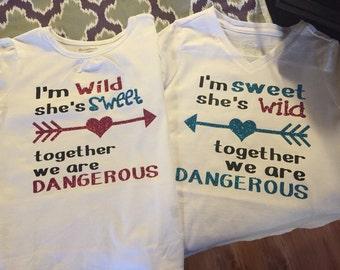 Wild/Sweet shirts for kiddos