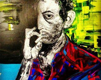 Serge Gainsbourg portrait