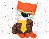 Fox Toy, Toddler gift, Fox, Stuffed animal, Nursery decor, Plush toy, Softie, Handmade