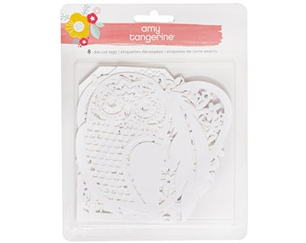 Amy Tangerine - Oh Happy Life Collection - Paper Cut Tags - 8 pieces - 376230