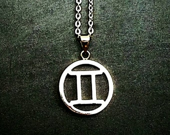 Gemini Necklace, Zodiac Jewelry, Gemini Jewelry, Layering Necklace, Boho Chic, Bohemian Jewelry, Gift Ideas, Gifts for Her, Silver Necklace