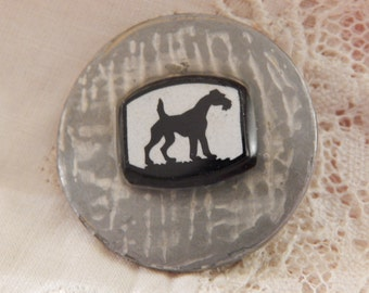 Scottie Dog - Studio Button by Blanka Manas