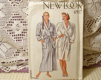 New Look Pattern - 6907 - Dressing Gown - Six Sizes In One (8,10,12,14,16,18)