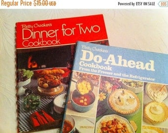 On Sale Cook book Bundle - Two Betty Crocker Cook Books - Dinner For Two and Do Ahead Cook book