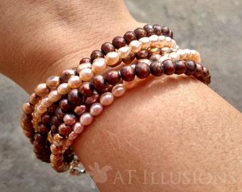 Handmade Freshwater Pearl Choker Style Necklace or Bracelet