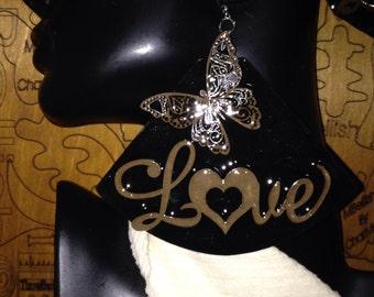 LOVE Butterflies Earrings