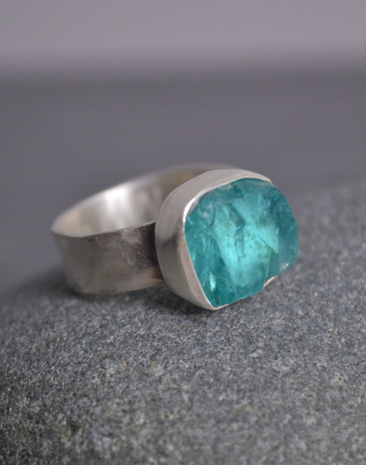 Raw Apatite Ring Neon Blue Color Size 8 Ring Raw Apatite. Matau Necklace. Soft Wedding Rings. Corded Bracelet. 24k Gold Bracelet. Nautical Engagement Rings. Rfid Bracelet. Hindi Bracelet. 300 Dollar Engagement Rings